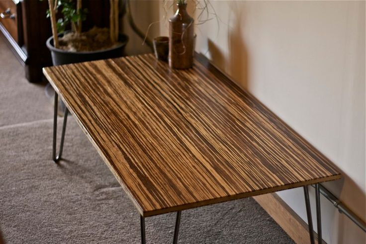 Diy Bamboo Coffee Table Furniture To Make Pinterest