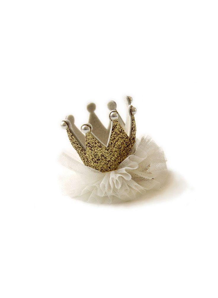 Princess Crown Hair clip - Gold - Hello Alyss Exclusive - Hello Alyss - Designer Children's Fashion Boutique