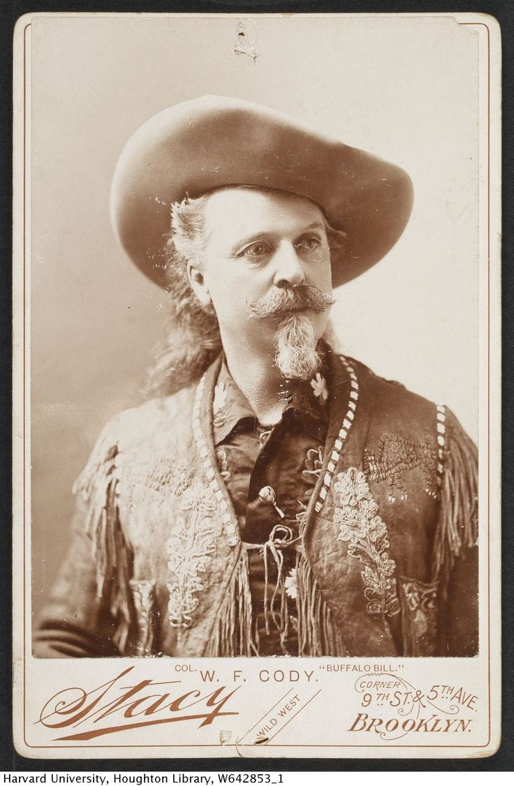 "Portrait of William F. ""Buffalo Bill"" Cody. TCS 1.5340 Houghton Library…"