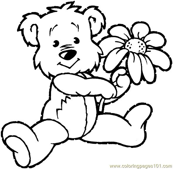 free printable coloring image bear coloring page 0001 1