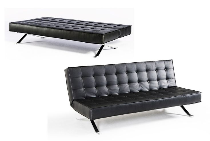 The Sante Fe Contemporary Leather Sofa Bed has a classic look to it.