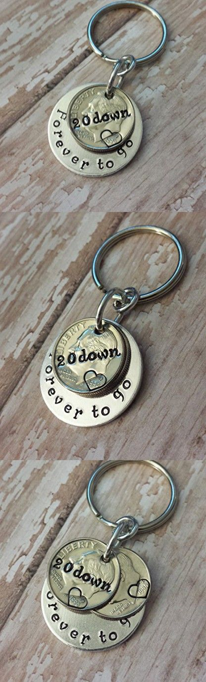 20 Down Forever To Go with Two 1996 Year Dimes Key Chain Anniversary Gift More