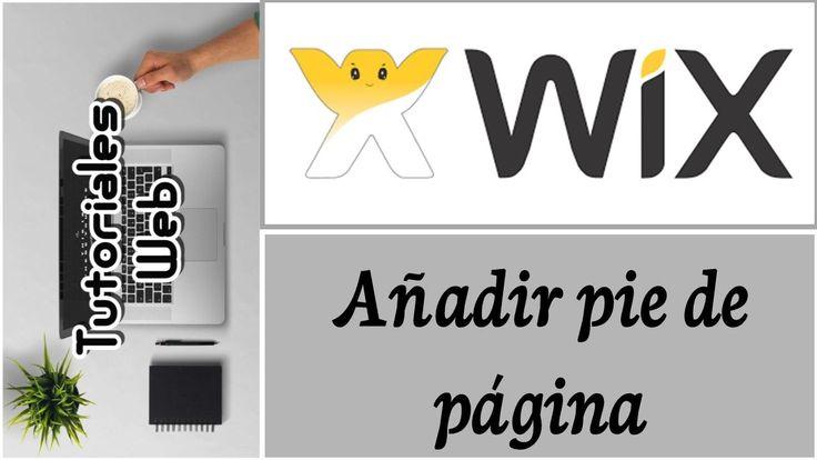 Wix 2017 - Añadir pie de página (español)