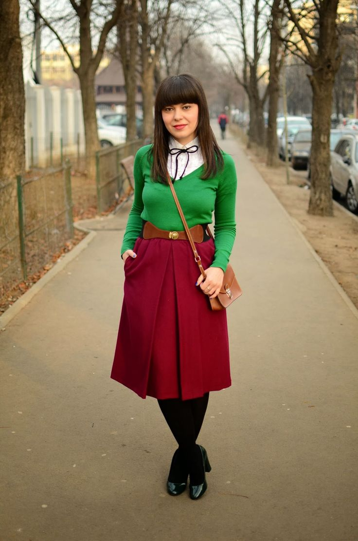 91 Best Emerald Green Skirt Outfits Images On Pinterest | Green Skirt Outfits Color ...