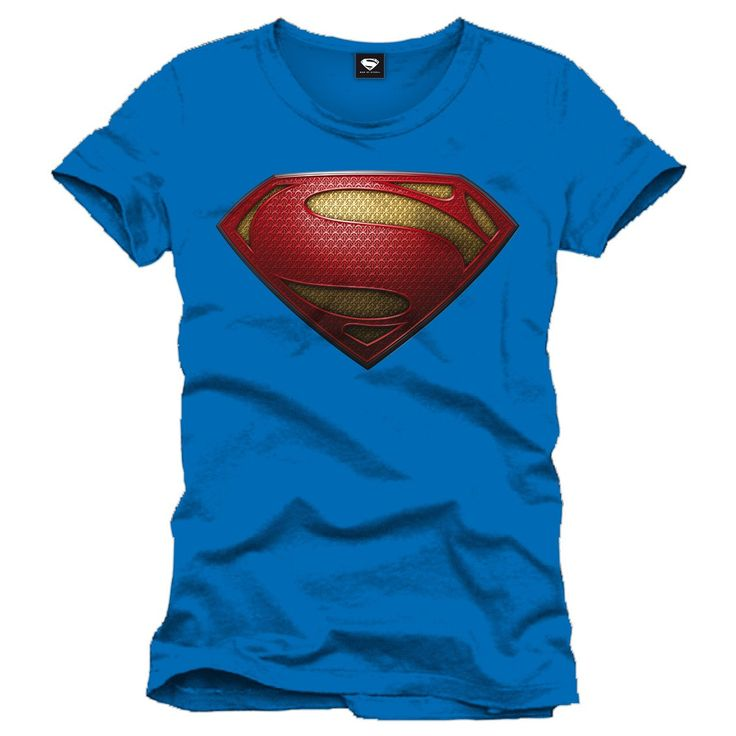 Tee-Shirt Bleu Logo Man of Steel Superman