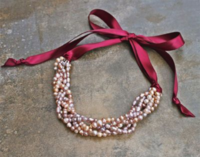 Pink Pearl Ribbon Necklace: Pink Pearls, Diy Ribbons Jewelry, Pearls Ribbons, Pearls Necklaces, Beads Necklaces, Pink Ribbons, Ribbons Necklaces, Diy Jewelry, Diy Necklaces Beads Ribbons