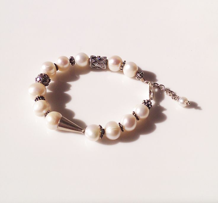 Freshwater Pearl Sterling Silver Bracelet B192