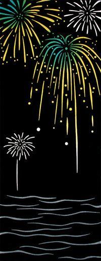 Fireworks tenugui