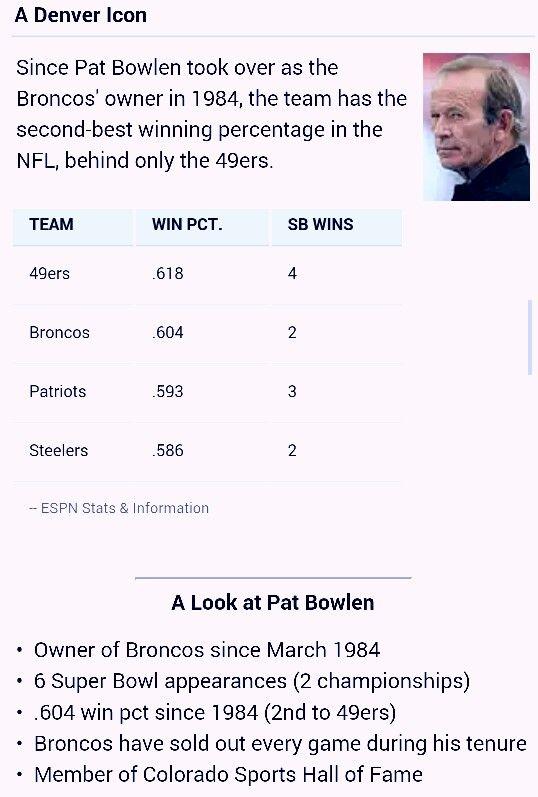 Pat Bowlen Denver Broncos  #patbowlen