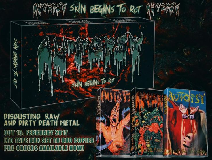 Autopsy - Skin Begins To Rot, 1989 - 1992 (USA), Tape Box