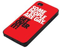 Some People Are Gay Get Over It iPhone 4 4S 4G Cover Vintage Phone Case Hard