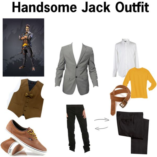 Handsome Jack Cosplay Outfit by jonah-peace on Polyvore featuring мода, Vans, Gucci and Paul Frank