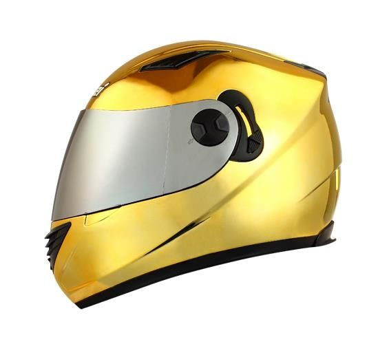 Masei Gold Chrome 830 Full Face Motorcycle Helmet Free Shipping Worldwide