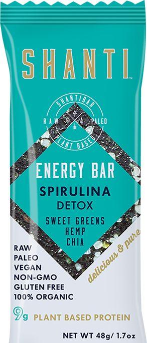 SHANTI BAR - Detox - Spirulina Energy Bar