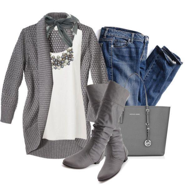 Casual gray...