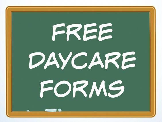 Free Daycare Forms and Sample Documents #homedaycarebusiness