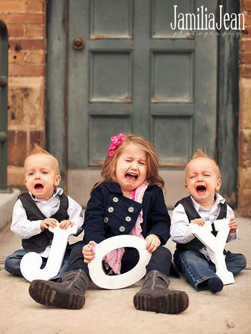If your kids won't grow up fast enough. | 38 Awesome Christmas Card Ideas You Should Steal