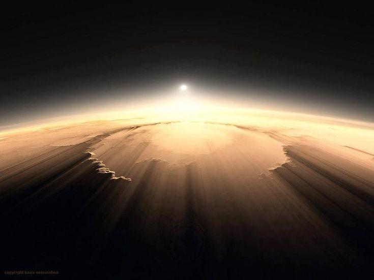 Olympus Mins Sunrise on Mars. ☺ https://www.facebook.com/Mr.DineshJaswal