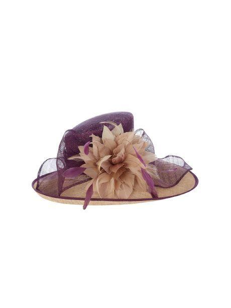 Jacques Vert Floral delights occasion hat, Purple