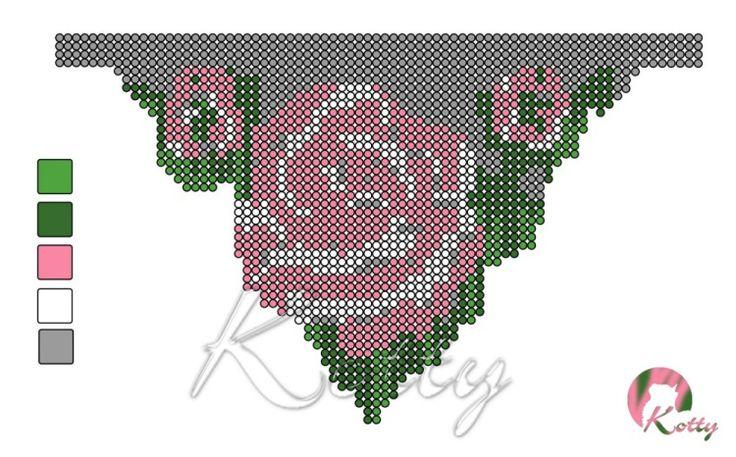 """Gallery.ru / Схема колье """"Роза"""" - Авторские (самодельные ;) ) схемы. - Kotty"""