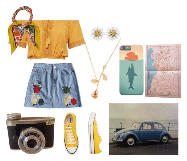 """""""Road To Nowhere- Talking Heads"""" by mimixai on Polyvore featuring Burberry and Converse"""