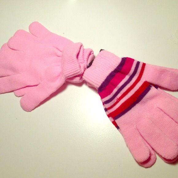 2 pairs of pink mittens Who doesn't need pink? Everyone loves pink, especially it has an adorable contrast with white snow ❄️ Jackets & Coats