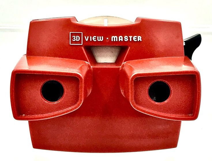vintage toy 1960-1970's 3d view master With Flintstones Disc 1962 Clear Picture