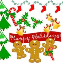 The best free Christmas clip art, animated graphics, xmas clip art borders and photographs for making holiday arts and crafts.