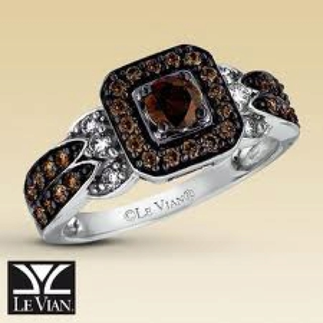 Exceptional LeVian Chocolate Diamonds Ct Tw Ring Vanilla Gold   I Want.
