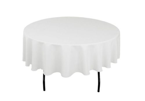 Party-Tablecloth-Round-Seamless-Wedding-90-inch-Polyester-Banquet-Decorations