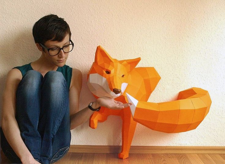 DIY Geometric Paper Animal Sculptures by Paperwolf paper DIY animals
