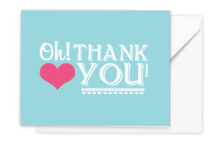 "The ""Oh! Thank You!"" card www.storystpapershop.com"