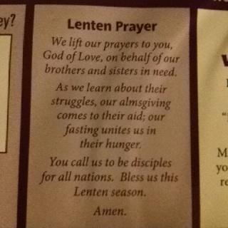 : On a mission this Lenten season! :)