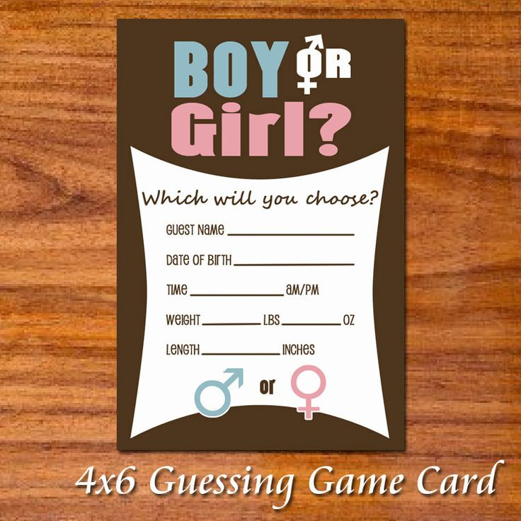 Gender Reveal Party Game Cards  Chocolate Pink by RedVelvetParties, $5.99