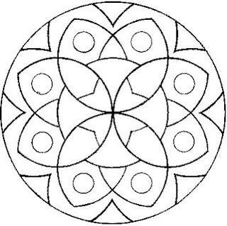 Mandala. Mandala para pintar. Mandala for painting