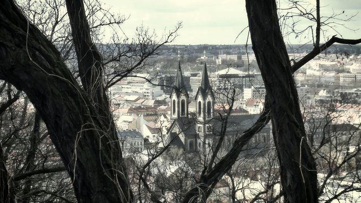 https://flic.kr/p/FGs8ai | Kostel svatého Cyrila a Metoděje, Karlín, Prague | Pohled z vrchu Vítkov