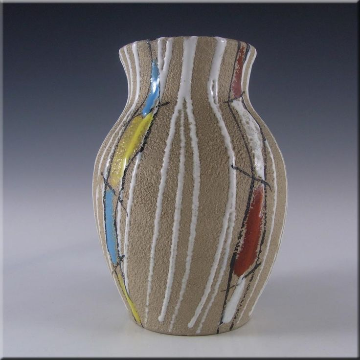 Fratelli Fanciullacci Italian Ceramic Textured Pottery Vase #3 - £30.00