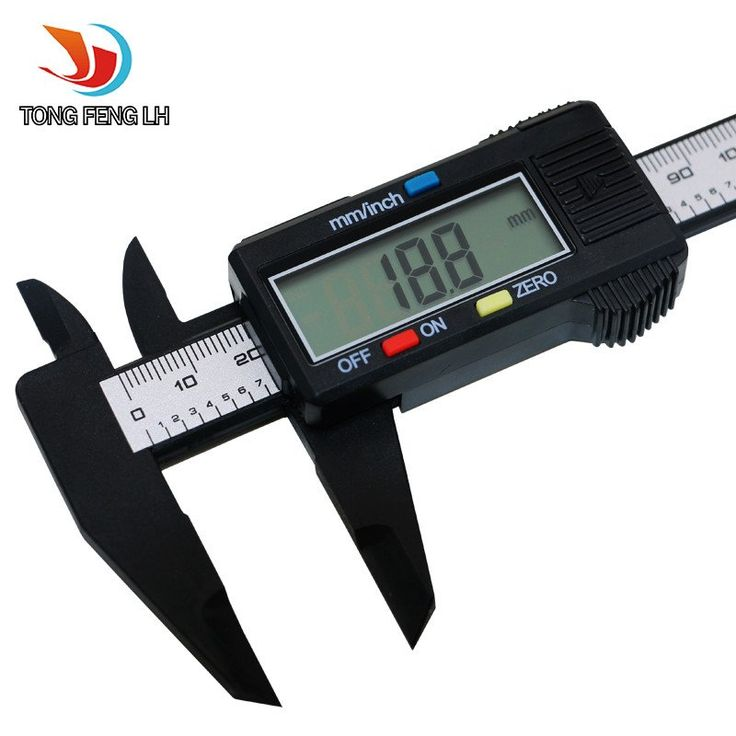150mm 6inch LCD Digital Electronic Carbon Fiber Vernier Caliper Gauge