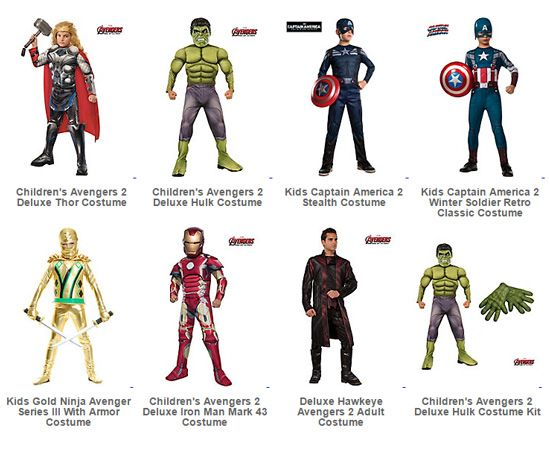 Avengers' costumes and accessories for kids are now available from $2.99 at Wholesale Costume Club!