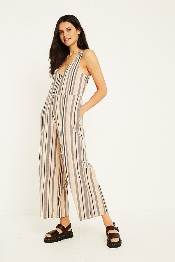Uo Sage Vertical Stripe Jumpsuit In 2018 Urban Outfitters