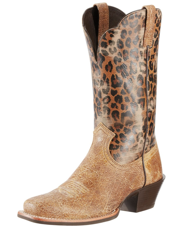 $189.95 Women's Legend Boot - Shattered Tan/Leopard Print: Shoes, Cowgirl Boots, Women Legends, Style, Legends Boots, Westerns Boots, Leopards Prints, Shattered Tans Leopards, Cowboys Boots