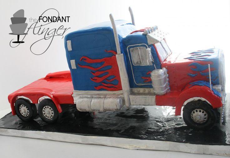 Optimus Prime Truck Cake Tutorial by The Fondant Flinger