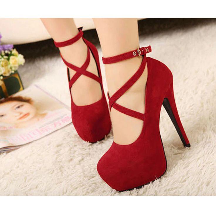 high-heeled pumps shoes platform high heels PU27