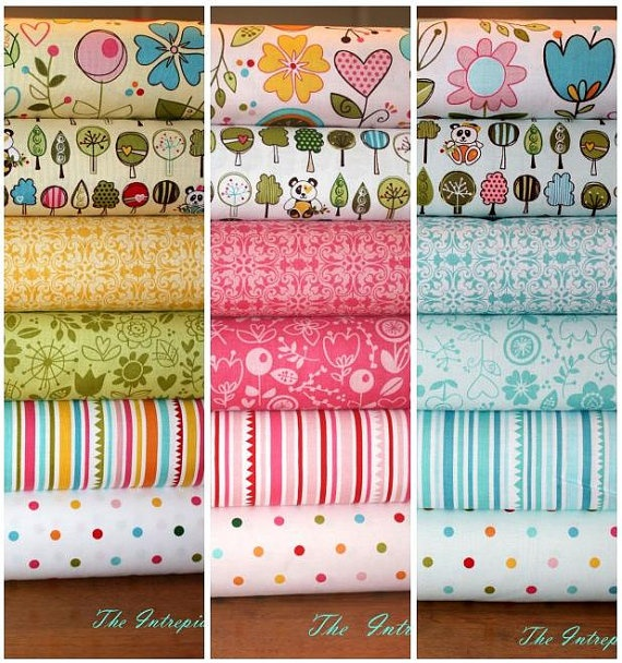 Sunny Happy Skies - Half Yard Bundle Complete Collection By Bella BLVD For Riley Blake Cotton Quilt Fabric