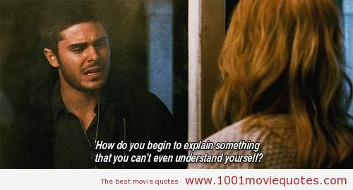 The Lucky One (2012) - movie quote I recently watched this great movie. I've also said this many, many times