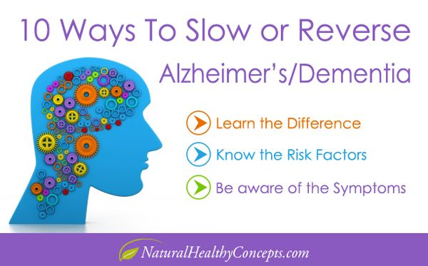 Alzheimer's Disease - Are you at risk? 10 Ways to Slow or Reverse Alzheimer's/Dementia - Learn the Difference, know the risk factors, be aware of the symptoms.