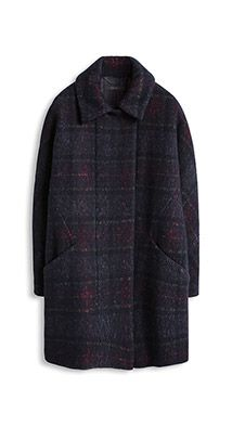 Check wool coat - from Esprit