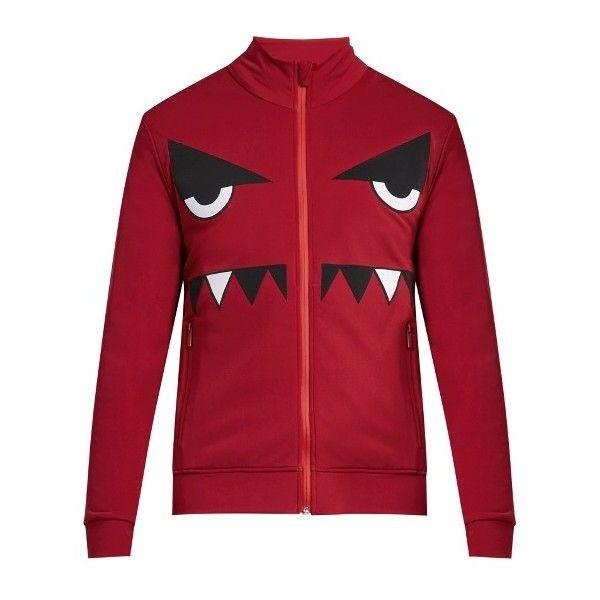 Fendi Bag Bugs zip-through nylon sweatshirt ($402) ❤ liked on Polyvore featuring men's fashion, men's clothing, men's activewear and men's activewear tops