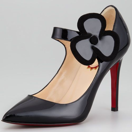 Christian Louboutin Pensee 100mm Patent Leather Pumps Black  http://www.luxurydressessale.