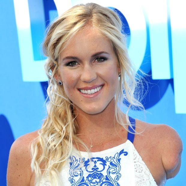"""Bethany Hamilton at premiere of her movie """"Dolphin Tale 2."""" (Photo: Jaguar PS / Shutterstock.com)"""